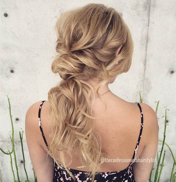 Elegant, Tousled Low Ponytail