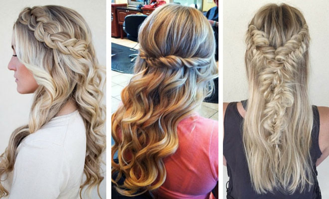 Curly Hairstyles Half Up Half Down