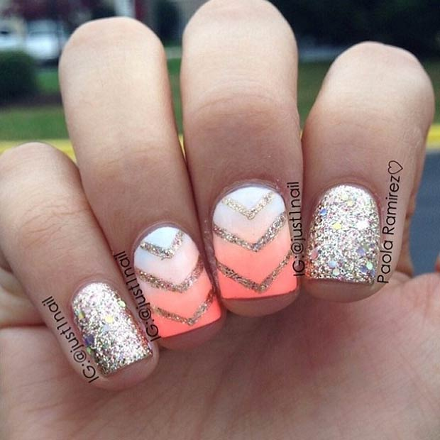 Instagram / just1nail - 30 Eye-Catching Summer Nail Art Designs StayGlam