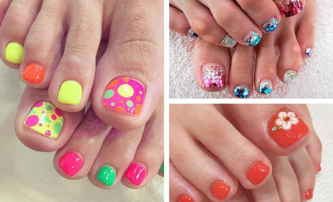 31 adorable toe nail designs for this summer stayglam prinsesfo Choice Image