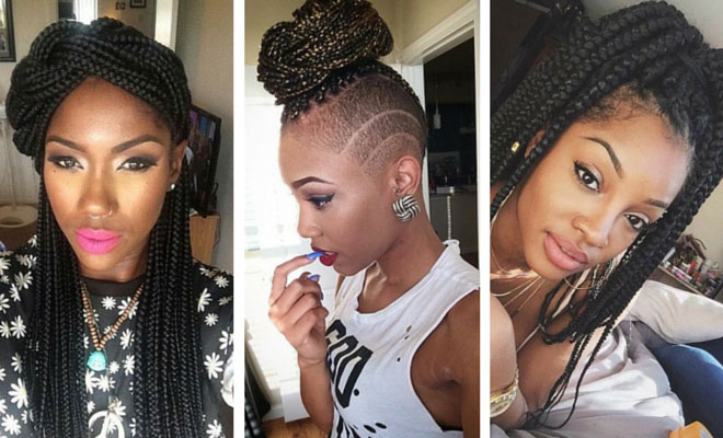 Image result for 7 ways to style your box braids that will make you stand out from the crowd