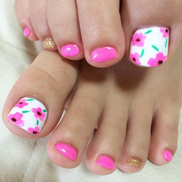 Foot Nail Art Design: 51 Adorable Toe Nail Designs For This Summer