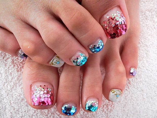 31 adorable toe nail designs for this summer stayglam source becomegorgeous prinsesfo Choice Image