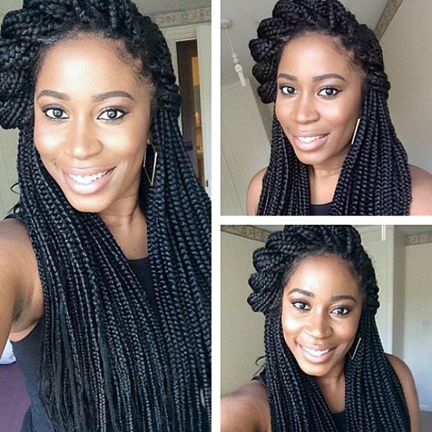 Box Braids Hairstyles awesome box braids hairstyles side twist box braids Instagram Braidsgang