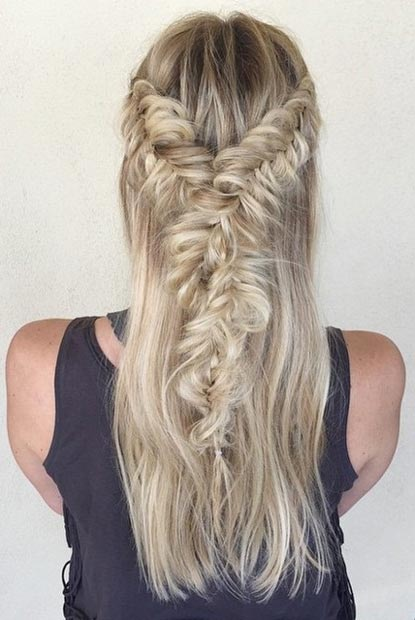 Messy and Twisted Fishtail Braids