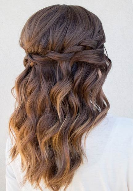 Waterfall Twist Half Updo