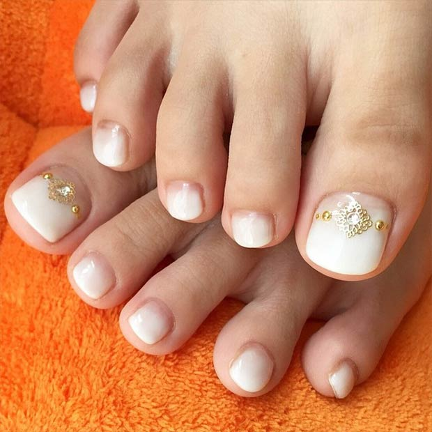 Ombre Toe Nail Design