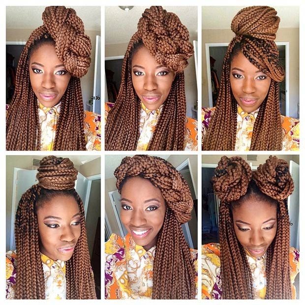 Peachy 50 Box Braids Hairstyles That Turn Heads Stayglam Short Hairstyles Gunalazisus