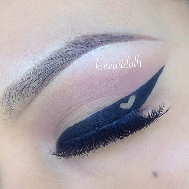 Black Eyeliner with a Heart