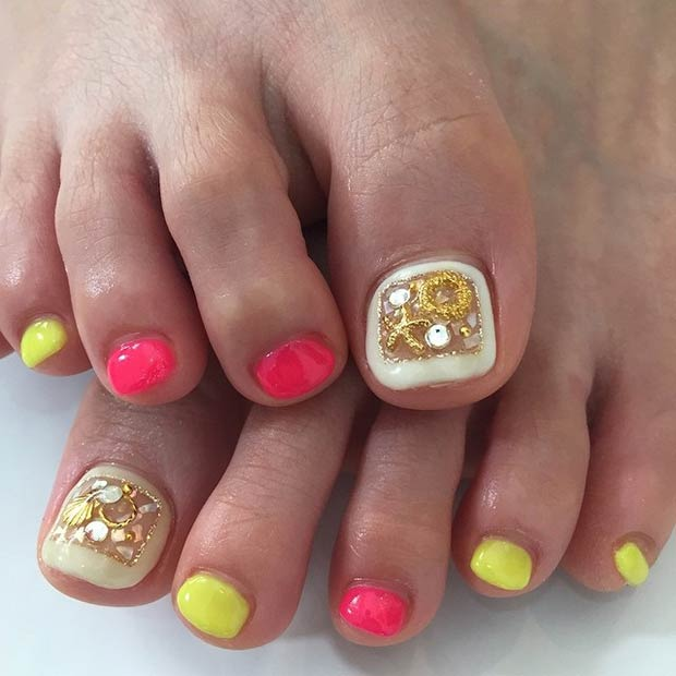 31 Adorable Toe Nail Designs For This Summer Stayglam