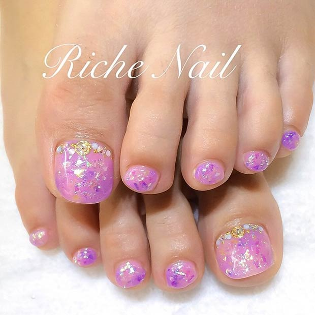 Adorable Nail Designs: 51 Adorable Toe Nail Designs For This Summer