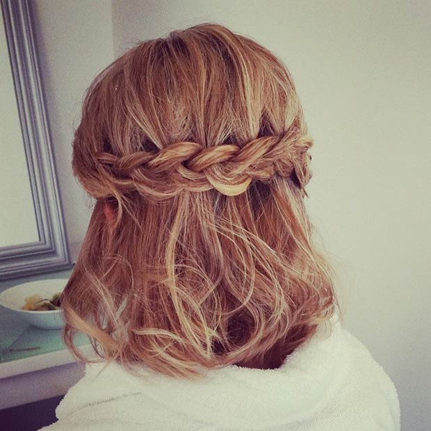 Enjoyable 26 Stunning Half Up Half Down Hairstyles Stayglam Hairstyle Inspiration Daily Dogsangcom
