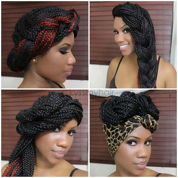 friends hairstyles : 14. 4 Box Braids Styles for Summer