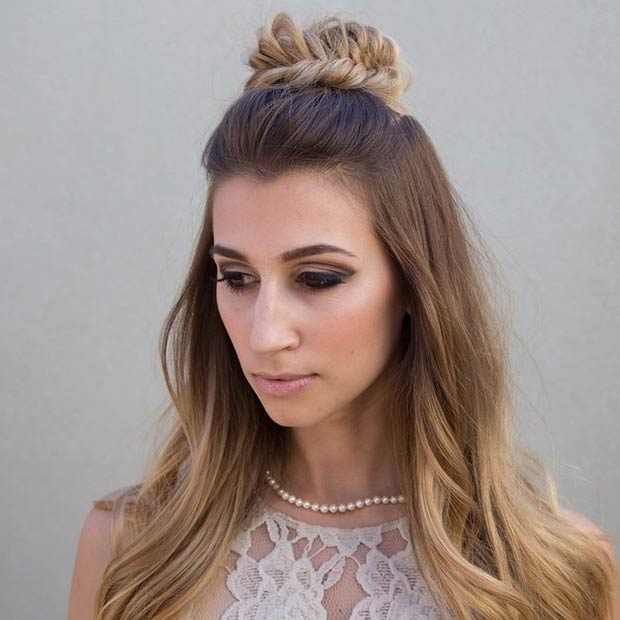 Groovy 26 Stunning Half Up Half Down Hairstyles Stayglam Hairstyle Inspiration Daily Dogsangcom