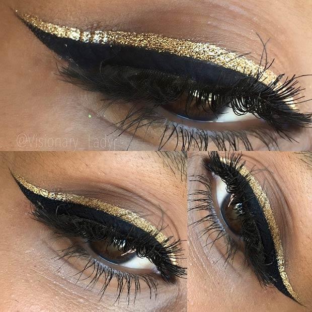 Gold Sequin Eyeliner