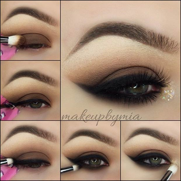 Tutorial for Black Smokey Eyeliner