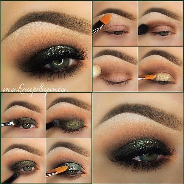 Dark Smokey Eye Tutorial for Blue Eyes