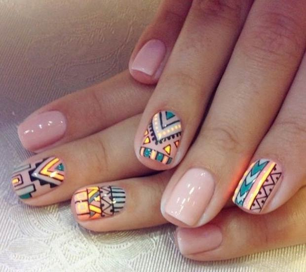 19 tribal inspired nail art designs stayglam source pinterest prinsesfo Image collections