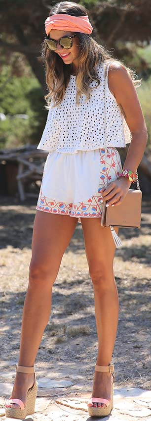White Top and Shorts