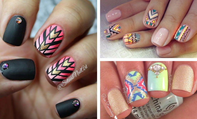 19 tribal inspired nail art designs stayglam prinsesfo Image collections