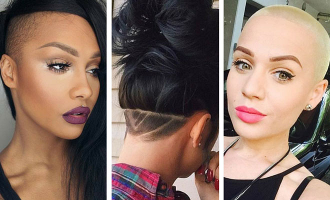 Shaved Hairstyles undercut hairstyle shaved sides of head long hair 23 Most Badass Shaved Hairstyles For Women Stayglam