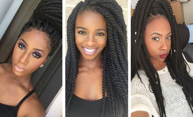 Admirable 19 Fabulous Kinky Twists Hairstyles Stayglam Short Hairstyles Gunalazisus
