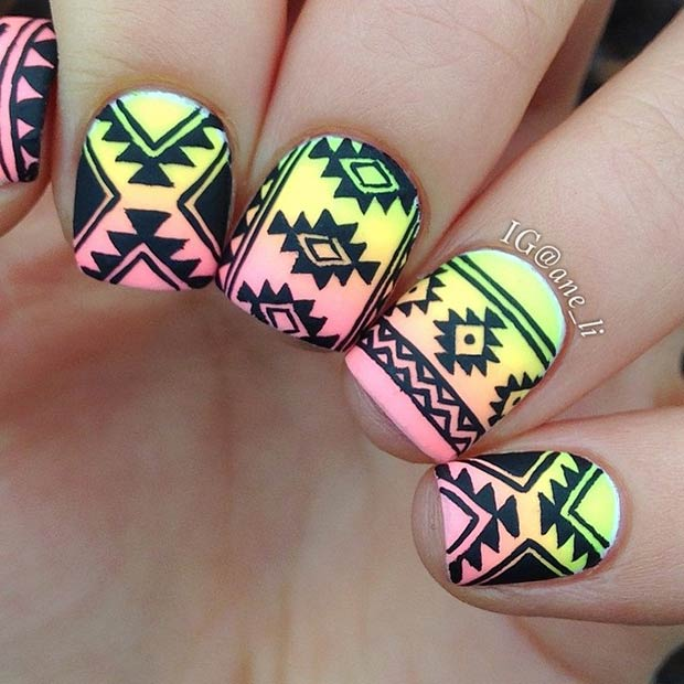 19 tribal inspired nail art designs stayglam instagram aneli prinsesfo Image collections