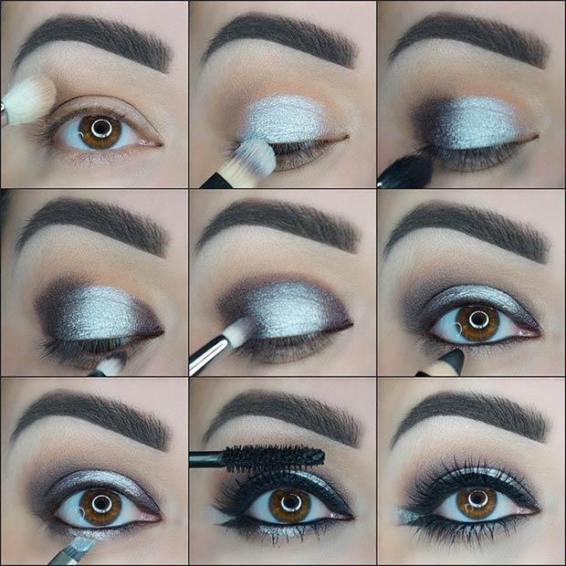 Black andSilverSmokey Eye