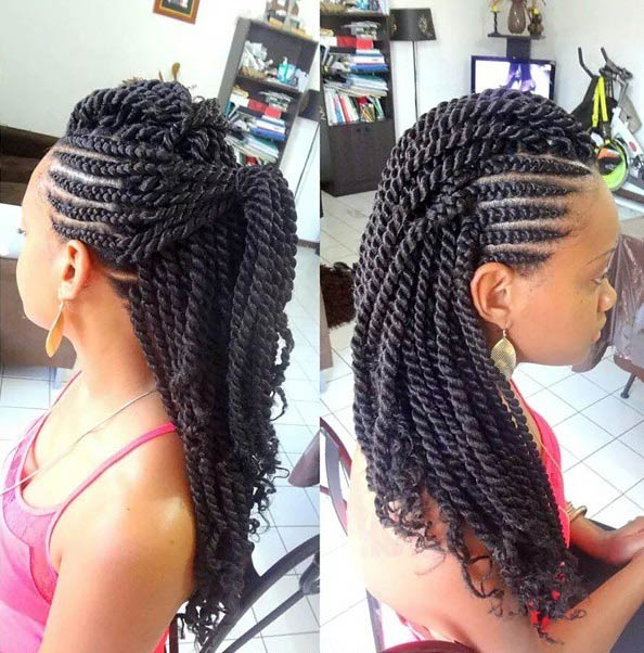 19 Fabulous Kinky Twists Hairstyles Stayglam Page 2