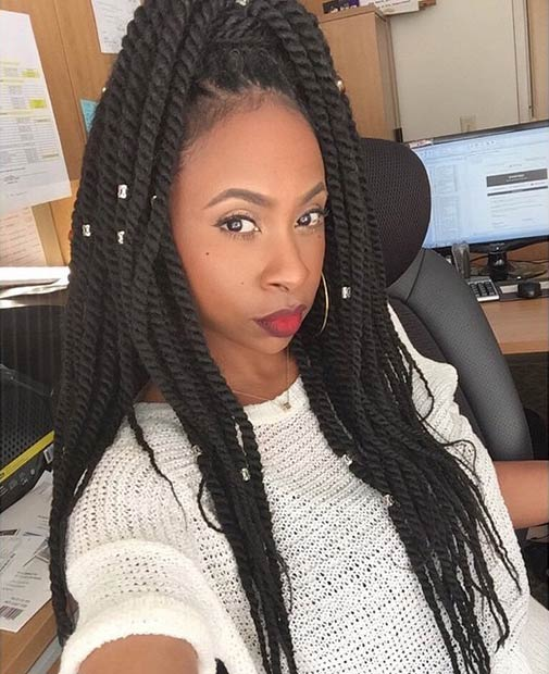 19 Fabulous Kinky Twists Hairstyles | StayGlam