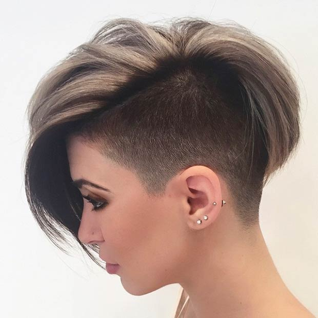 Pleasant 23 Most Badass Shaved Hairstyles For Women Stayglam Short Hairstyles Gunalazisus