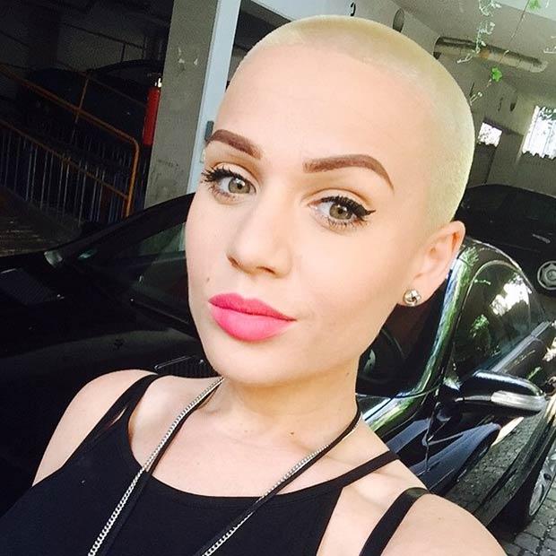 23 Most Badass Shaved Hairstyles for Women | Zöpfe & Make-Up