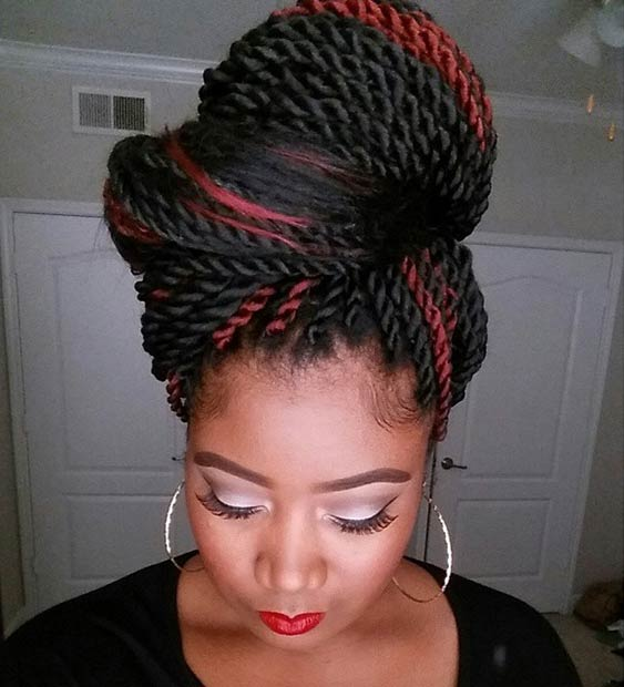 Cool 19 Fabulous Kinky Twists Hairstyles Stayglam Short Hairstyles Gunalazisus