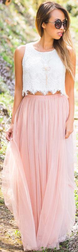 Maxi Skirt + Crop Top