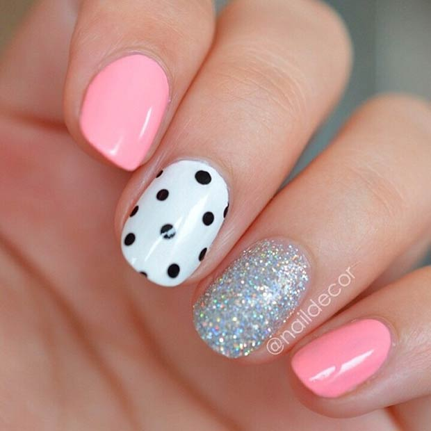 Polka Dot Accent Nail