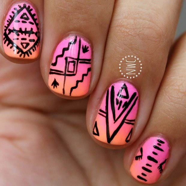 19 Tribal Inspired Nail Art Designs Page 2 Of 2 Stayglam