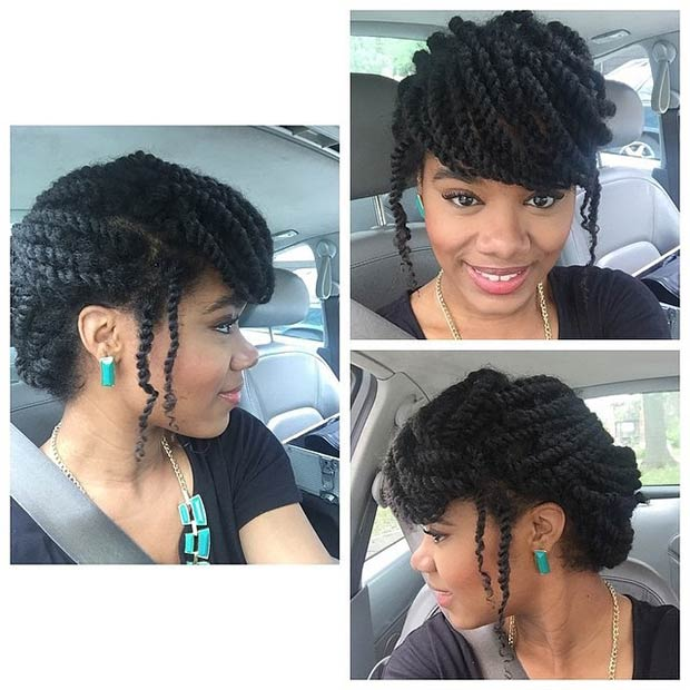 Pleasant 19 Fabulous Kinky Twists Hairstyles Stayglam Hairstyle Inspiration Daily Dogsangcom