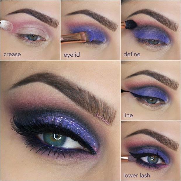Purpleand Black Cut Crease