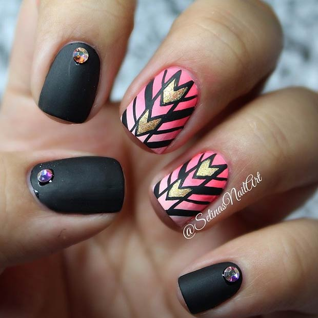 Instagram / selinasnailart - 19 Tribal Inspired Nail Art Designs StayGlam