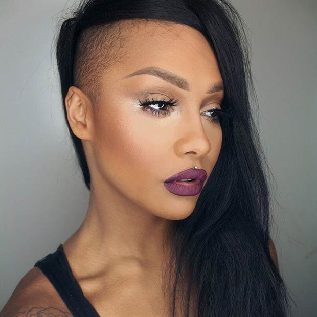 Most Badass Shaved Hairstyles For Women StayGlam - Long hairstyle for bald head