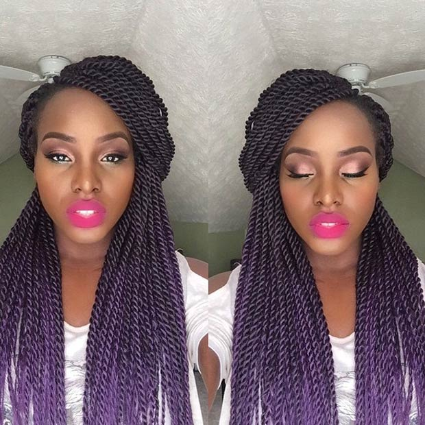19 Fabulous Kinky Twists Hairstyles Stayglam