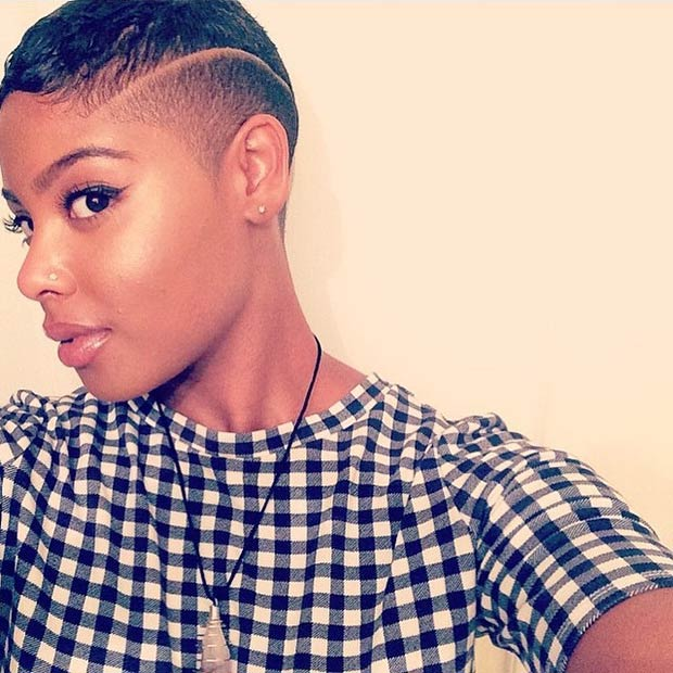 Swell 23 Most Badass Shaved Hairstyles For Women Stayglam Short Hairstyles For Black Women Fulllsitofus