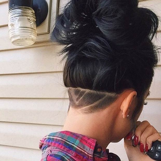 Hairstyles For Long Hair Design : 23 Most Badass Shaved Hairstyles for Women Page 2 of 2 StayGlam