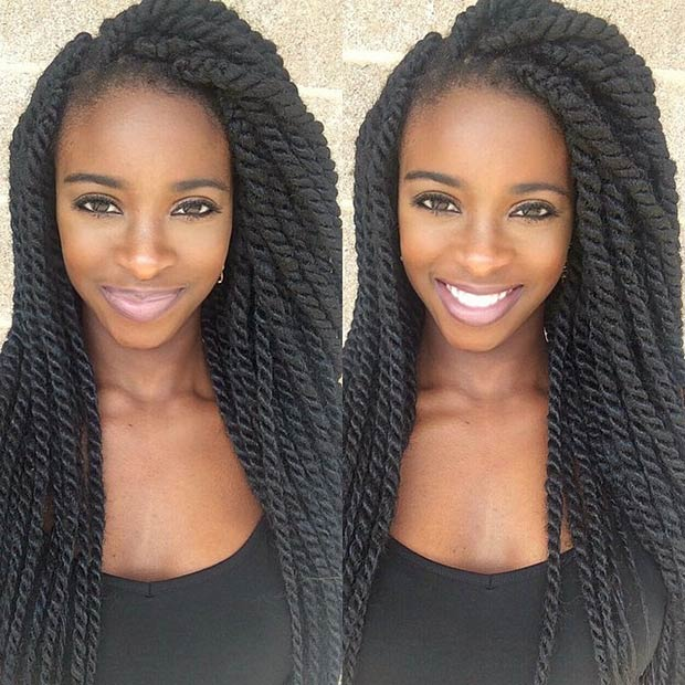 Cool 19 Fabulous Kinky Twists Hairstyles Stayglam Hairstyles For Women Draintrainus
