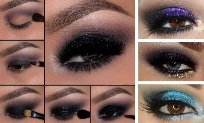 Deep dark smokey eye makeup tutorial pictures, photos, and images.