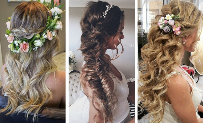 28 trendy wedding hairstyles for chic brides stayglam junglespirit Gallery