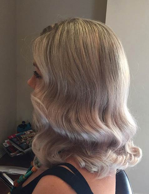 Retro Waves on Medium Length Hair