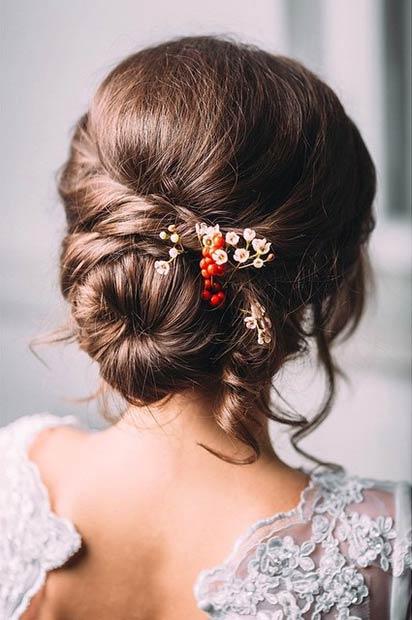Bridal Low Bun