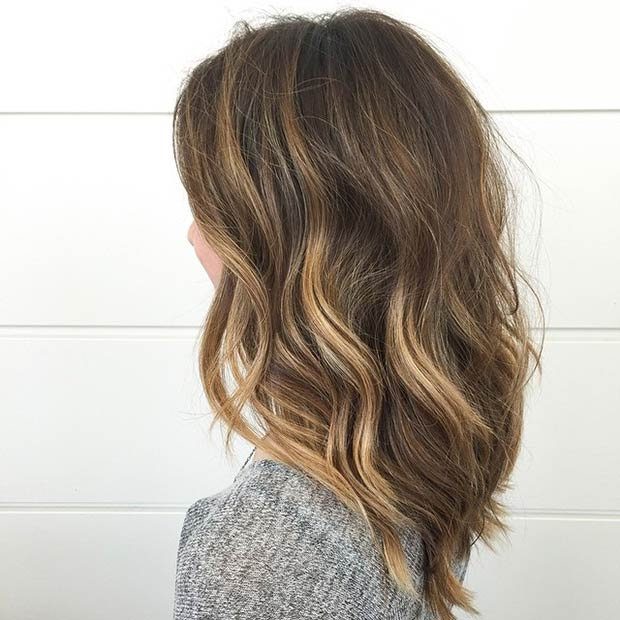 47 hot long bob haircuts and hair color ideas page 4 of 5 stayglam rich brown lob with a pop of honey highlights instagram habitsalon pmusecretfo Images