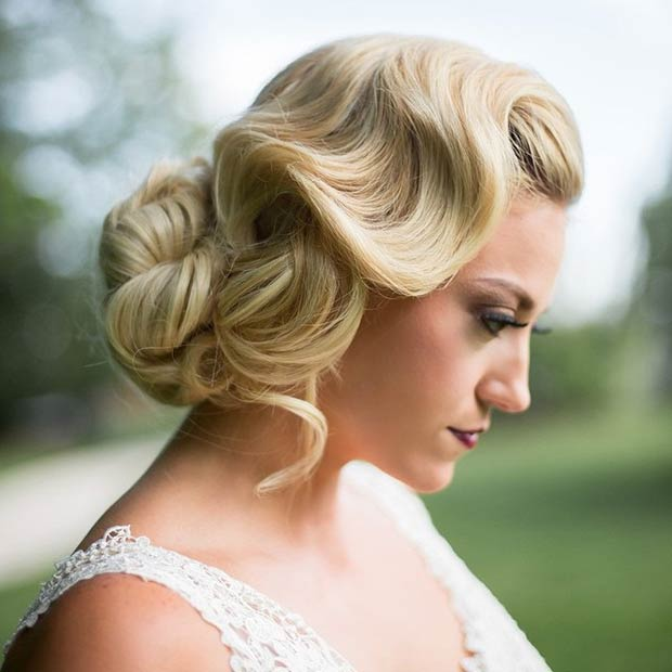 Old Hollywood Waves Updo